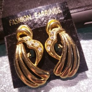 Brand new gold indian style earrings